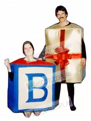 Alphabet Block Mascot Costume