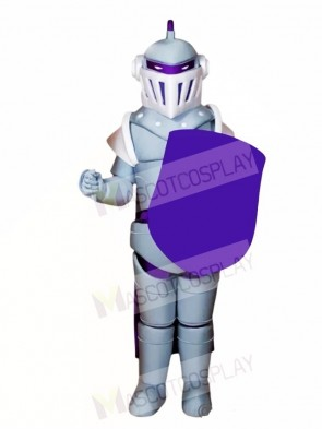 Silver Knight Mascot Costumes People