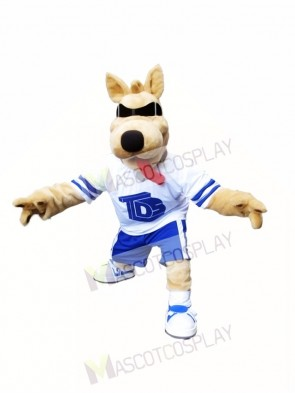 Bart Dog Mascot Costume Dog with SunGlasses Mascot Costume Animal
