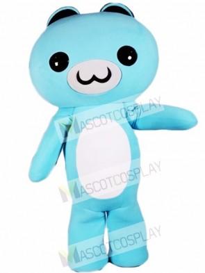 Light Blue Cartoon Bear Mascot Costumes