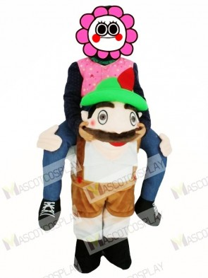 For Children/Kids PiggyBack Bavarian Oktoberfest Beer Guy Carry Me Ride On Stag Mascot Costume