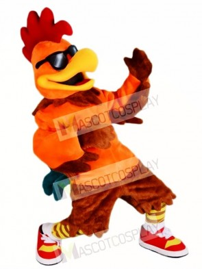 Chicken Rooster with Sunglasses Mascot Costumes Poultry Farm