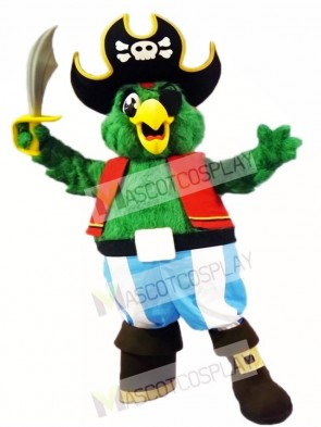 Green Pirate Parrot Mascot Costumes Bird