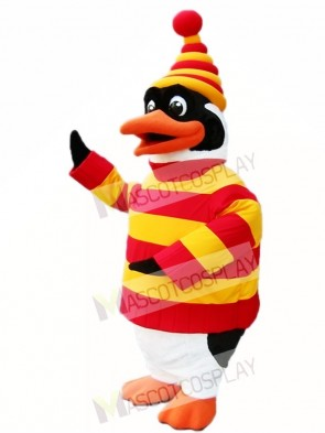 Red and Yellow Penguin Mascot Costumes Animal