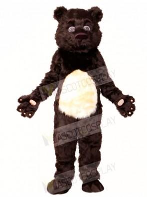 Fluffy Black Bear Mascot Costumes Animal