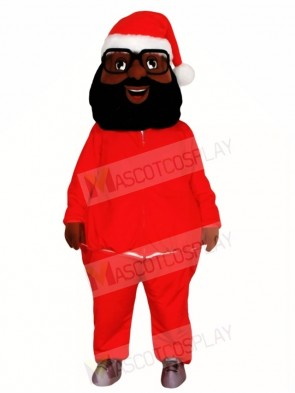Black Santa Claus Father Christmas Mascot Costumes People