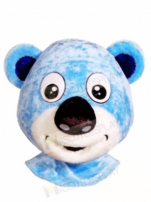 Blue Bear Head Only Mascot Costumes