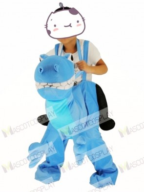 For Children/ Kids Piggyback Carry Me Ride on Blue Dragon Mascot Costume