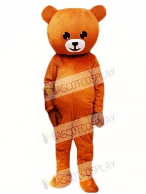 Laugh Smile Light Brown Bear Mascot Costumes Line Town Friends