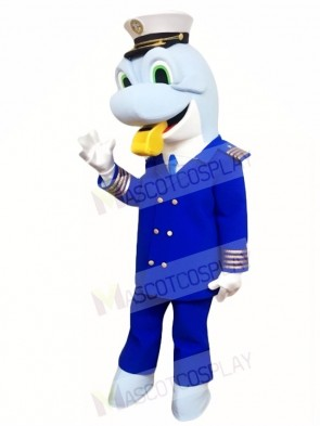 Caption Blue Dolphin Mascot Costumes Sea