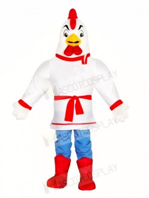 White Chicken Rooster Mascot Costumes Poultry Farm