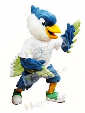 Royal Blue Head Bird Mascot Costumes