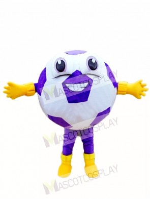 Custom Color Purple Ball Football Mascot Costumes