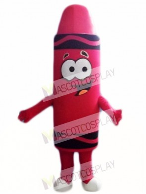 Red Lipstick Crayon Mascot Costumes