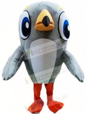 Grey Woodpecker Bird Mascot Costumes Animal