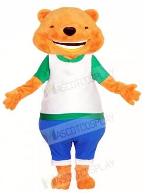 Big Smiling Fluffy Bear Mascot Costumes Animal