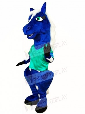 Blue Horse Mascot Costumes Animal