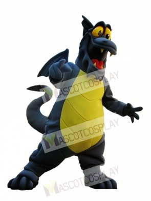 Gray Dragon with Yellow Belly Mascot Costume Dragon Mascot Costumes