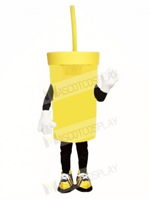 Big Yellow Cup Mascot Costumes Drink