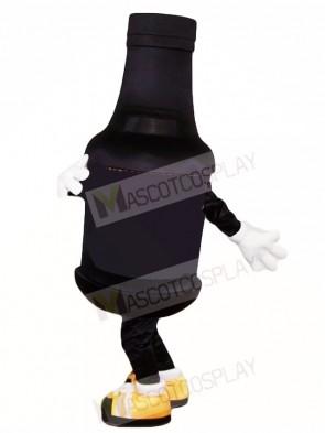 Black Beer Bottle Mascot Costumes Drink