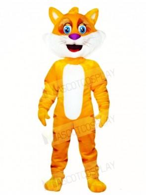 Yellow Fat Cat Mascot Costumes Animal