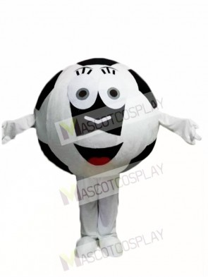 Black Ball Football Mascot Costum