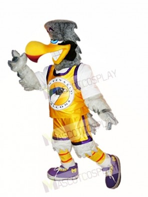 Light Gray Falcon Mascot Costume Light Grey Hawk Mascot Costumes