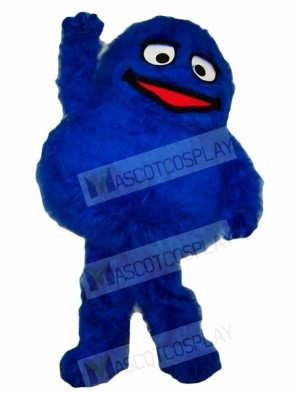 Fluffy Blue Monster Mascot Costumes