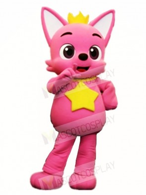 Pink Fox Pinkfong Mascot Costumes Animal