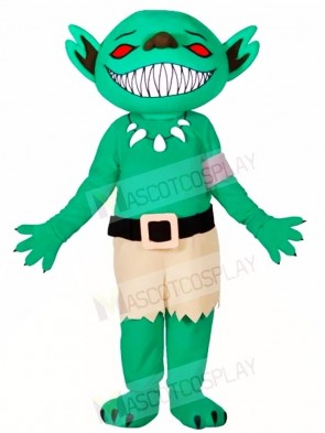 Green Goblin Mascot Costumes Monster