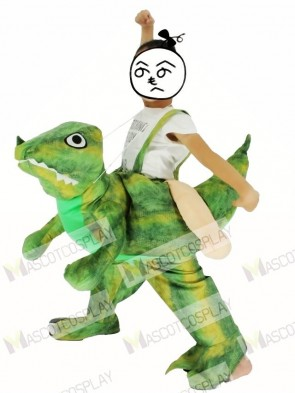 Children/ Kids Piggyback Carry Me Ride on Velociraptor Dinosaur Dragon Mascot Costume
