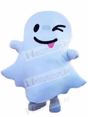 Winking White Ghost Spirit Mascot Costumes Halloween
