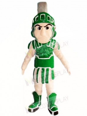 Green Spartan Knight Mascot Costumes People