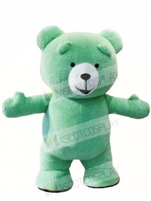 Mint Green Teddy Bear Mascot Costumes Animal