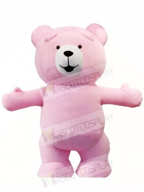 Pink Teddy Bear Mascot Costumes Animal