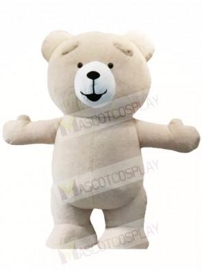 Creamy White Teddy Bear Mascot Costumes Animal