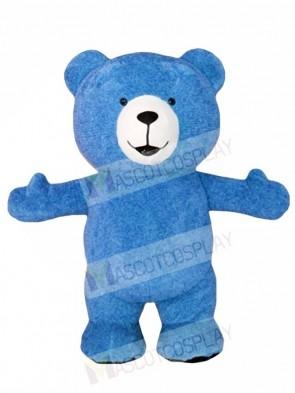Blue Teddy Bear Mascot Costumes Animal