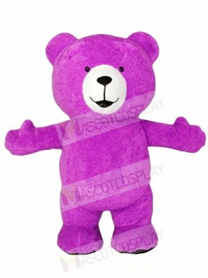 Purple Teddy Bear Mascot Costumes Animal