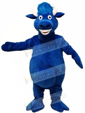 Blue Bull Mascot Costumes Farm Animal
