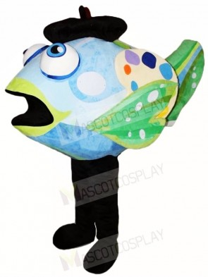 Blue and Green Clown Fish Mascot Costumes Aquatic Ocean Aquarium