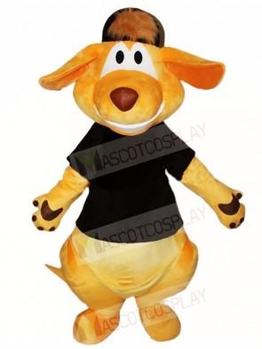 Black Shirt and Hat Kangaroo Mascot Costumes Animal