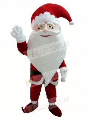 Smiling Santa Claus Father Christmas Xmas Mascot Costumes People