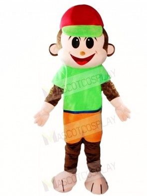 Red Hat Monkey Mascot Costumes Animal