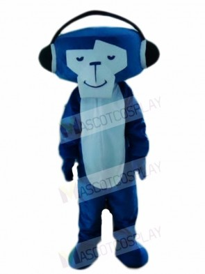 Blue DJ Monkey Mascot Costumes Animal