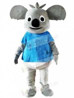 Blue Shirt Koala Bear Mascot Costumes Animal