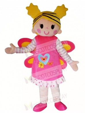 Pink Butterfly Girl Mascot Costumes People