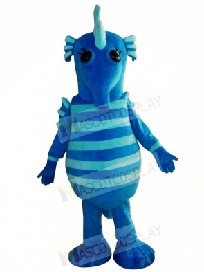 Cute Blue Hippocampus Seahorse Mascot Costumes Animal