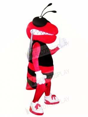 Red and Black Hornet Bee Mascot Costumes Insect