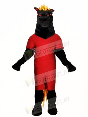 Black Stallion Horse Mascot Costumes Animal