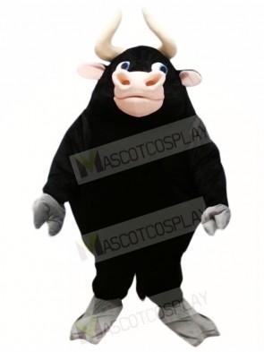 Black Bull Mascot Costumes Farm Animal